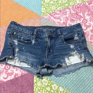 American Eagle Destroyed Shorts